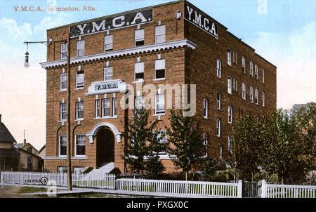 YMCA (Young Men's Christian Association), Edmonton, Alberta, Canada.     Date: circa 1910s - Stock Image
