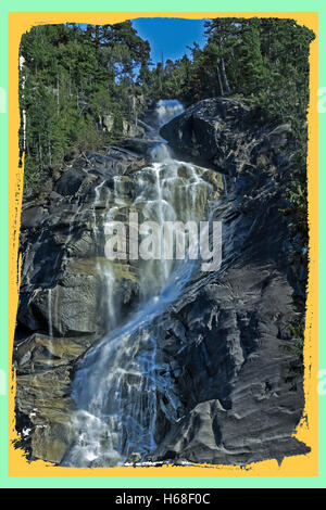 The Water Falls,  Shannon Falls in BC, Canada - Stock Image