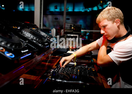 DJ at Matter 19th August 2009. - Stock Image