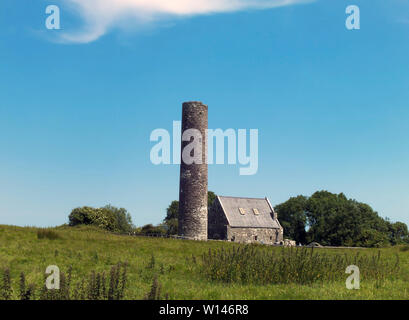 Medieval Monastery located on Holy Island on Lough Derg in County Clare,Ireland. - Stock Image