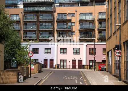 New houses and apartments in Lower College St, Bristol, UK - Stock Image