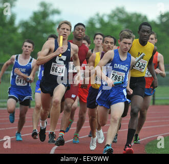 CT USA Action from the State Open Track and Field Championship at Middletown High School. June 9, 2014. - Stock Image