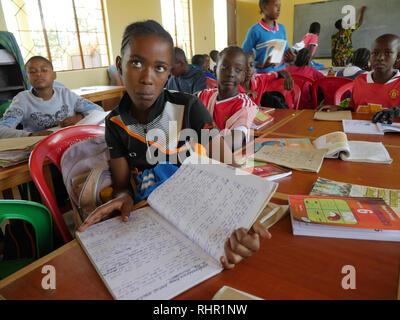 TANZANIA  -  Sean Sprague photo 2018  Igombe Montessori school, Ilemela village, Mwanza. - Stock Image