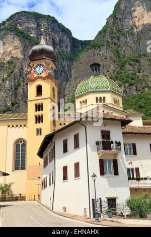 The Italian alp village Mezzocorona, Trentino, Italy. - Stock Image