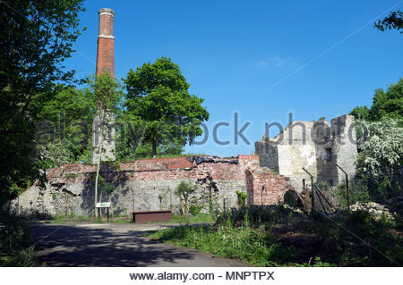 The remains of the Brandy Bottom Colliery in South Gloucestershire, near Bristol, UK. - Stock Image