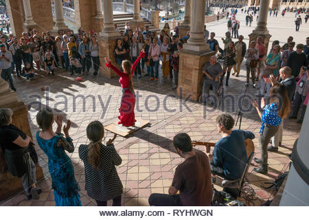 Flamenco in the Plaza de España - Stock Image