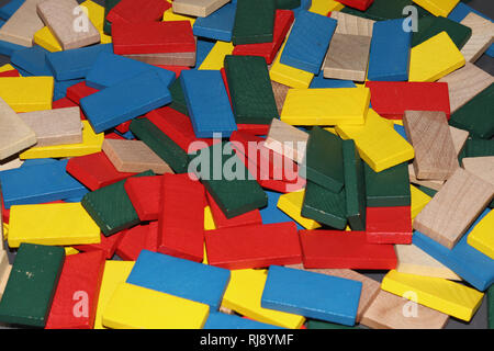 Color blocks from order to chaos and back; - Stock Image