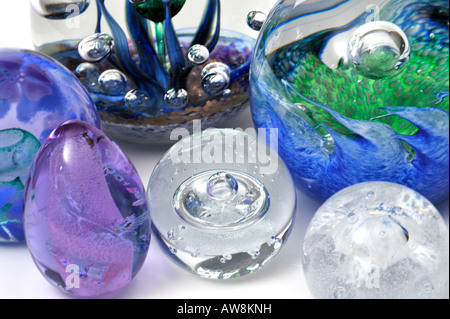 Collection of Glass Paperweights by Cathness FOR EDITORIAL USE ONLY - Stock Image
