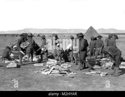 Pancho Villa Expedition, Mail from Home, 1916 - Stock Image
