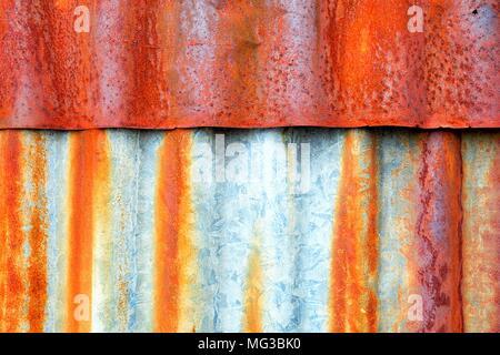 Old Zinc Wall Background. - Stock Image