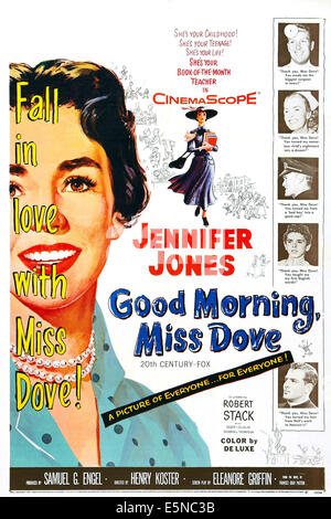 GOOD MORNING, MISS DOVE, US poster, Jennifer Jones (left), 1955, TM and copyright ©20th Century Fox Film Corp. - Stock Image