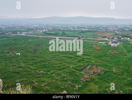 View from Van Castle, Turkey - Stock Image