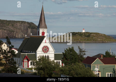 TRINITY, NEWFOUNDLAND, CANADA - August 12, 2018: St Paul's Anglican Church built in 1894, in the town of Trinity.  ( Ryan Carter ) - Stock Image