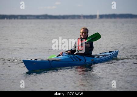 oresund kayakers helsingborg - Stock Image