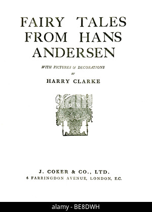 Hardback Book Hans Andersen 's Fairy Tales published by by J Coker & Co of London c 1930  FOR EDITORIAL - Stock Image