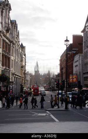 Street scene Whitehall towards Parliament Square London - Stock Image
