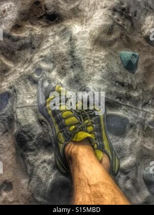 Climbing shoes - Stock Image