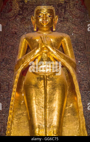 geography / travel, Myanmar, Bagan, Pagan, Ananda Temple, infinite knowledge of Buddha, ananta panna, 4 big Buddha - Stock Image