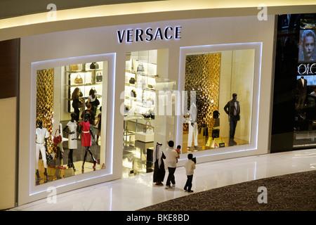 Dubai Shopping Mall Versace Shop United Arab Emirates City - Stock Image