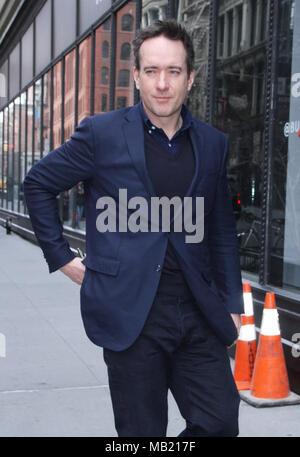 New York, NY, USA. 5th Apr, 2018. Matthew Macfadyen seen at Build Series in New York City on April 5, 2018. Credit: Rw/Media Punch/Alamy Live News - Stock Image