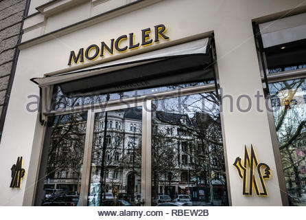 Moncler store - Stock Image