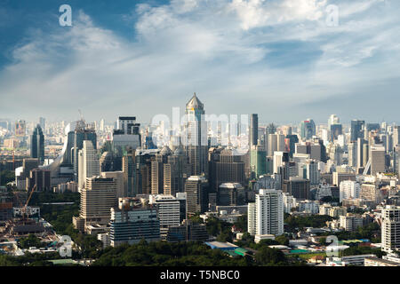 Modern building in Bangkok business district at Bangkok city with skyline, Thailand. - Stock Image
