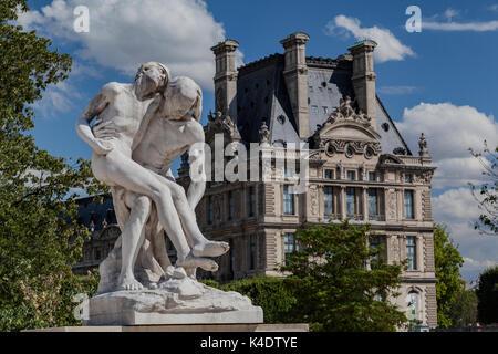 Sculpture Louvre Museum Paris France - Stock Image