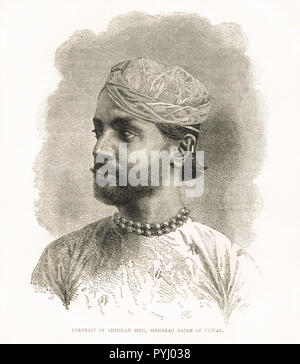 Sheodan Singh Prabhakar, Raja of Alwar - Stock Image