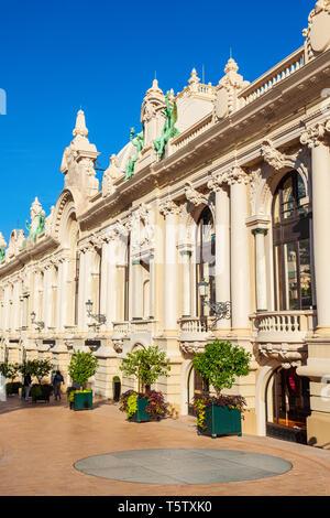 Classic style building at the Place Casino square in Monte Carlo in Monaco - Stock Image