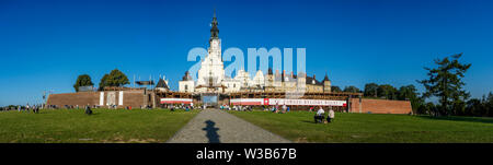 A panoramic view of the Jasna Góra Sanctuary in Czestochowa, Poland 2018. - Stock Image