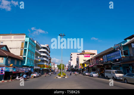 Thana Pranam VI, main street, Trang, Thailand - Stock Image