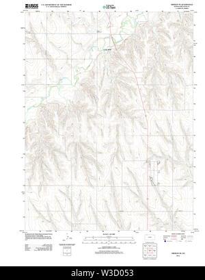 USGS TOPO Map Kansas KS Oberlin NE 20120905 TM Restoration - Stock Image