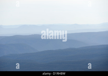 KATOOMBA, Australia - Blue Mountains as seen from Echo Point in Katoomba, New South Wales, Australia. - Stock Image