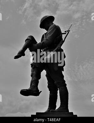 WWI memorial sculpture by James Butler commemorating the 167th US Infantry Regiment of the Rainbow Division at Union Station Montgomery Alabama, USA. - Stock Image