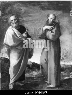 Carracci, Lodovico   Saints Peter and Francis of Assisi   Google Art Project - Stock Image