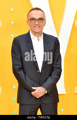 Danny Boyle attends the UK Premiere of 'Yesterday' at the Odeon Luxe in Leicester Square, London, England. - Stock Image