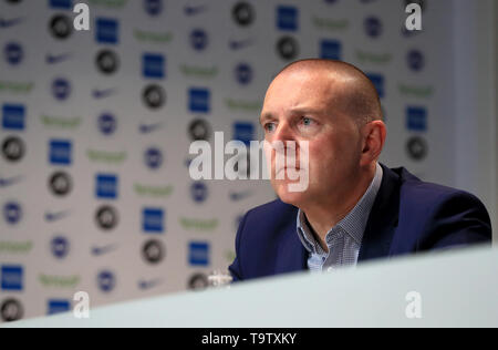 Brighton and Hove Albion CEO and deputy chairman Paul Barber during a press conference at The American Express Elite Football Performance Centre, Brighton. - Stock Image