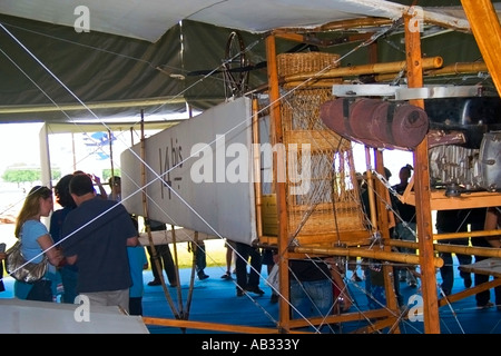 14 Bis Flying Replica Pilot Basket - Stock Image