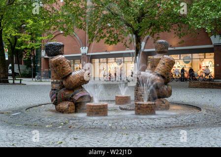 Munich, German- 28 May 2019. Rotkreuzplatz in Neuhausen on a quiet evening day - Stock Image