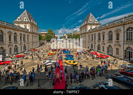 Turin, Piedmont, Italy. 22nd June 2019.Italy Piedmont Turin Valentino - valentino castle - park Auto Show 2019 - Credit: Realy Easy Star/Alamy Live News - Stock Image