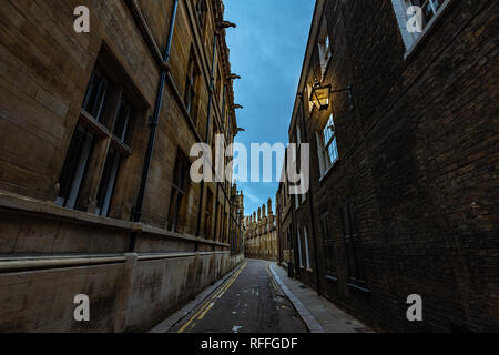 Old Trinity lane in Cambridge - Stock Image