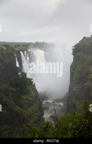 View of waterfall - Stock Image