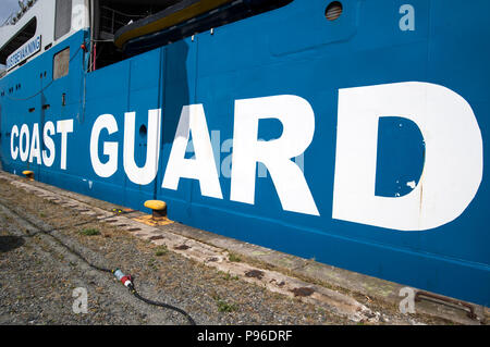 Coast Guard ship in Gothenburg, Sweden - Stock Image