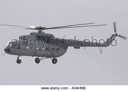 Pula air show 2005, Croatian Air Force Mi-8 MTV-1 transport helicopter - Stock Image