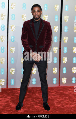 London, UK. 10th Feb, 2019. LONDON, UK. February 10, 2019: Lakeith Stanfield arriving for the BAFTA Film Awards 2019 at the Royal Albert Hall, London. Picture: Steve Vas/Featureflash Credit: Paul Smith/Alamy Live News - Stock Image