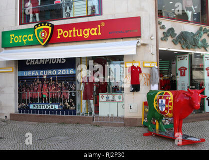 Official Football Store at Lagos in Portugal - Stock Image