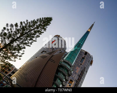 The Bell Tower campanile houses a set of 18 bells known as the Swan Bells, Perth, Western Australia. - Stock Image