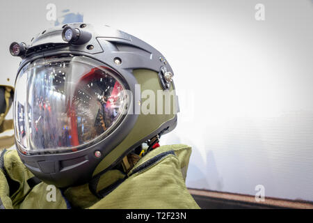 Head shot of a Army Space suit - Stock Image