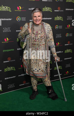 Sydney, Australia. 12th July 2019. Jack and the Beanstalk Giant 3D musical spectacular red carpet at the State Theatre. Pictured: Susan Elelman. Credit: Richard Milnes/Alamy Live News - Stock Image