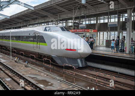 Japanese Shinkansen, Bullet Train in Japan. - Stock Image